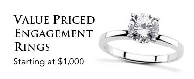 Value Priced Engagement Rings