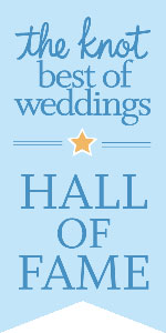 The Knot has awarded us their Best of Weddings Hall of Fame